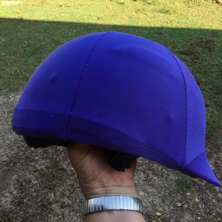 This is the purple helmet cover on my One K Defender medium size helmet.
