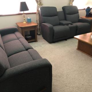 Levi Reclining love seat and sofa.