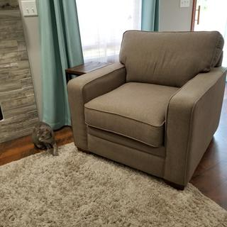Meyer chair in slate iclean fabric.