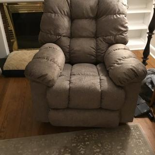 Gibson Wall Recliner with sable upholstery.