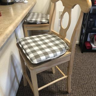 """Perfect for my 16"""" x16"""" barstool seats. Not bad at all but wish they came in black or grey."""