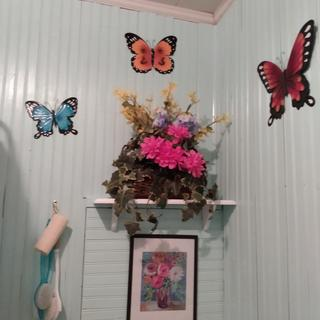 Made my little bathroom happy feeling. Brightened it up nicely.