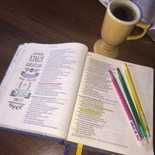 Daily Bible Studies with our Father!  Love my Highlighters that I ordered.