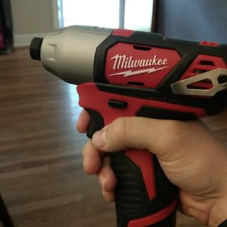 Impact Driver size in hand.