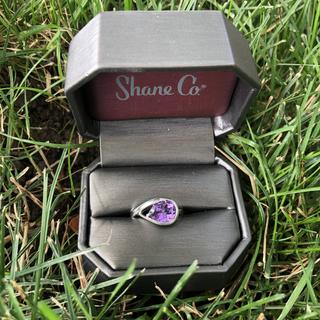 I love this pear shaped amethyst ring so much I took it outside for a photo shoot! ?