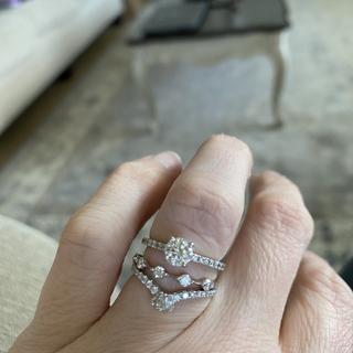 Set with a .59 carat diamond
