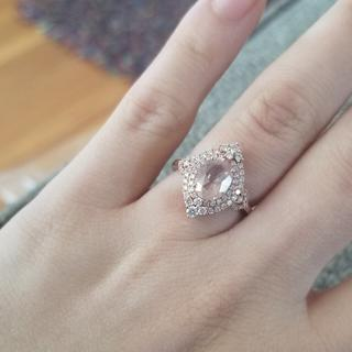 The ring, which does not glisten as it should due to the difficulty of cleaning the underside.