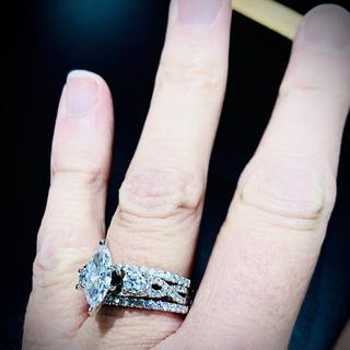 In love... with my 3 stone ring...