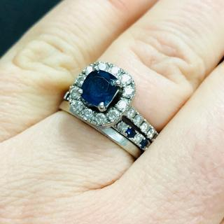 perfect match to my platinum, sapphire and diamond engagement ring.