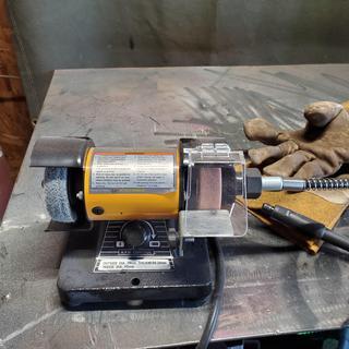 Bench Grinder With Flex Shaft