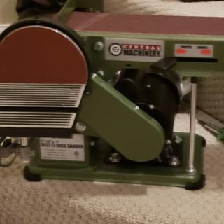 x 36 in Central Machinery 97181 4 in Belt//6 in Disc Sander Power Tools Stor
