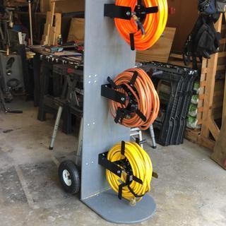 100 Ft  Manual Steel Air Hose Reel