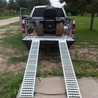 1000 lbs  Capacity 9 in  x 72 in  Steel Loading Ramps, Set of Two