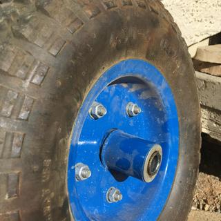 13 in  Pneumatic Tire with Black Hub