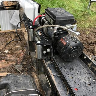 12000 Lbs  Off-Road Vehicle Electric Winch with Automatic Load-Holding Brake