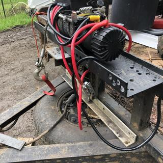 12000 Lbs. Off-Road Vehicle Electric Winch with Automatic Load-Holding on