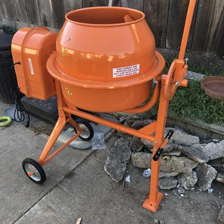 3-1/2 Cubic Ft  Cement Mixer