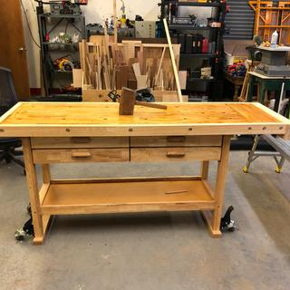 Phenomenal 60 In 4 Drawer Hardwood Workbench Pabps2019 Chair Design Images Pabps2019Com