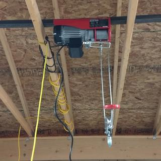 1300 Lbs. Electric Hoist with Remote Control Harbor Freight Hoist Wiring Diagram on