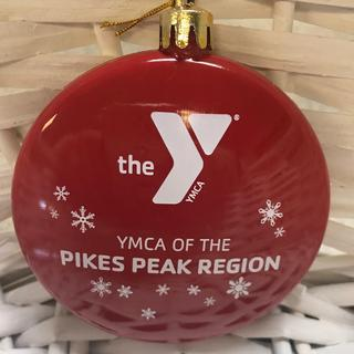 Beautiful red ornament for the YMCA of the Pikes Peak Region