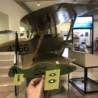 A wonderful toy for kids visiting our WWI Tommy Plane at The History Center in Tompkins County!