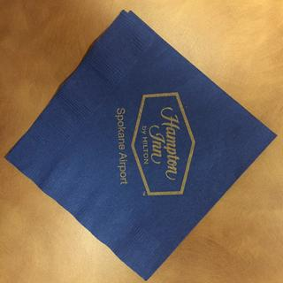 Logo'd beverage napkins that we use in our Boardroom - classy!!
