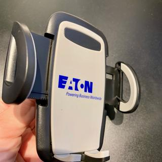 Angled view to show fully extended 'arms' used to hold phone in place.