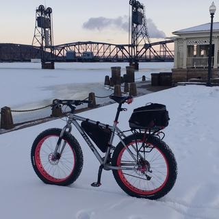 Nothing needed to lean my bike against when there is deep snow.