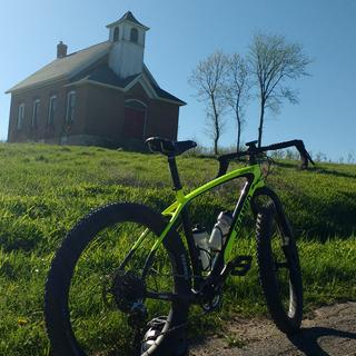On an adventure bike I found a single room schoolhouse in southern Wisconsin.
