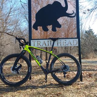 The Woolly Trail is an awesome single track trail in St Croix Falls, WI. My Marquette loves it!