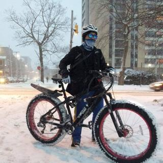 Took it out to the snowy road and streets downtown, everyone passed by said something about my bike.