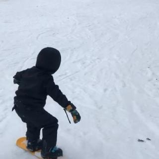 Me snowboarding with the K2 bindings.