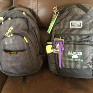 The pack on the left is my 8 year old backpack.  The one on the right is my new one.