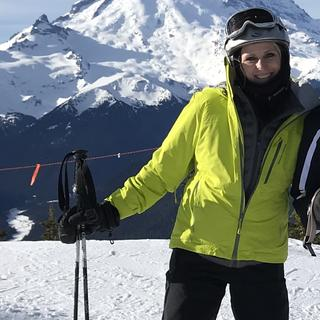 Skiing at Crystal Mountain. Mt. Rainer was incredible.