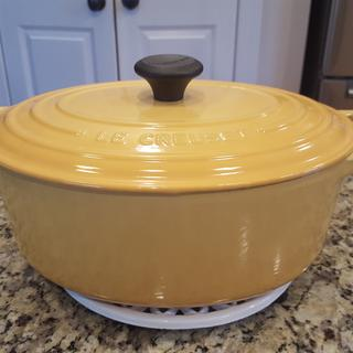My 3.5 qt French oven in Honey after my third use.  I love it!