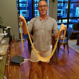 We made very long noodles :)