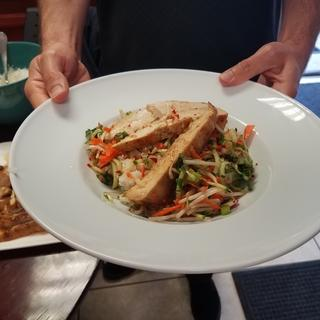 Lemongrass Chicken with Pad Thai Pasta