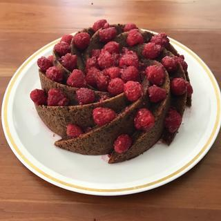 Red Wine Chocolate Cake with Raspberries