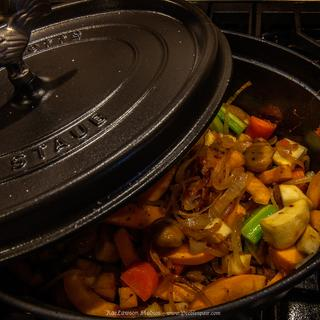 Staub with Winter Vegetable Cocotte, from Mimi Thorsson