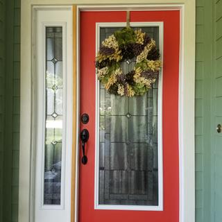 Lavender Wreath is a great addition to your front door!