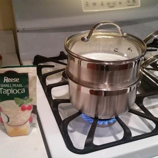 This is a GREAT double boiler for occasional use. My wife likes Tapioca, so, she gets Tapioca.