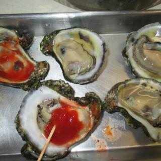 oysters.... 1/2 shell is good, too!!