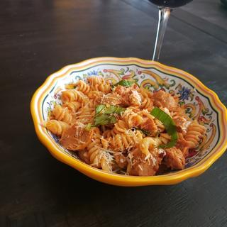 Perfect size for a delicious summer pasta arrabiata.