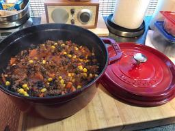 Bison black bean chili