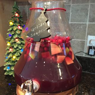 perfect stand for my Holiday Sangria!