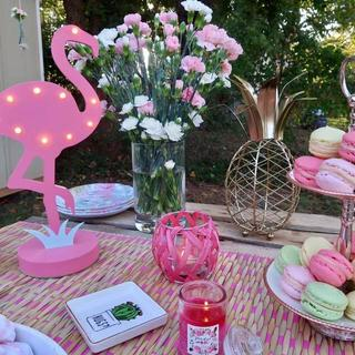 Flamingo Birthday Party with Colorful Macarons