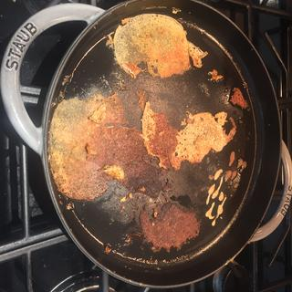 Even using oil, pancakes stuck like glue to the pan.