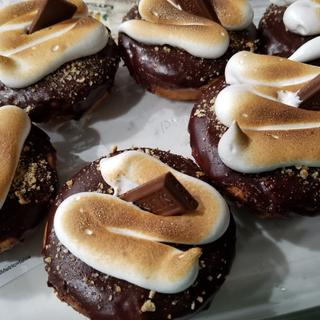 My smore's donunts using the Messermeister Torch.