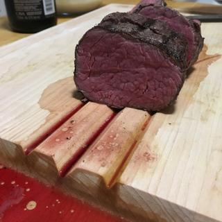 Beef tenderloin done with the Joule Sous Vide and finished on a grill.