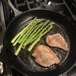 Asparagus and Pork Loins